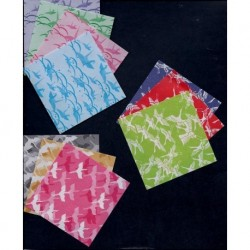 075 mm_ 300 sh - Three Different Crane Pattern Papers