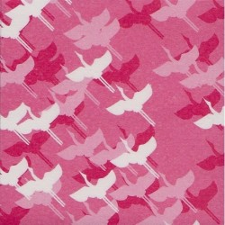 075 mm_ 100 sh - Pink Washi Paper With Cranes