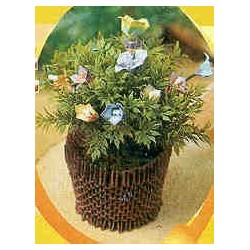 Brown Flower Basket Kit