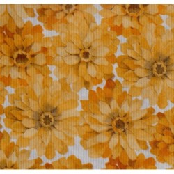 300 mm_   5 sh - Kraft Paper With Flowers
