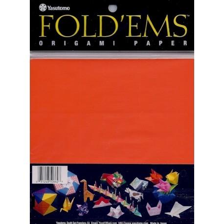 Origami Paper  Orange Color - 150 mm - 50 sheets