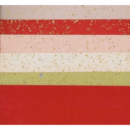 120 mm/  10 sh - Silver and Gold Speckled Washi Paper