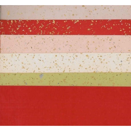 180 mm_  10 sh - Silver and Gold Speckled Washi Paper