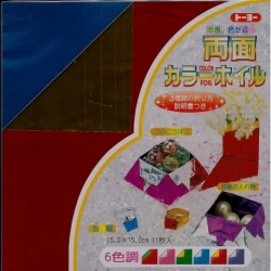 Origami Paper Double Sided Foil - 150 mm - 11 sheets