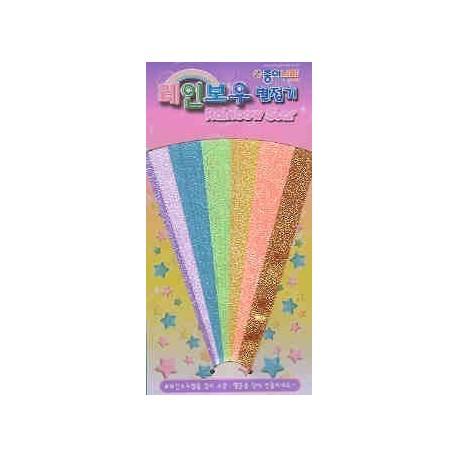 Origami Lucky Stars - Rainbow Color - Bulk