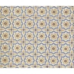 Carta Varese - Flowers Blue Brown Cross