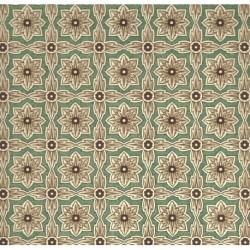 Carta Varese - Flowers Brown Green Cross