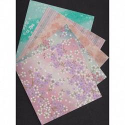 150 mm_   5 sh - Mix Cherry Blossom Print Washi Paper
