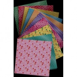 075 mm_ 300 sh - Mixed Prints Origami Paper