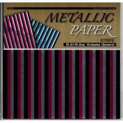 150 mm_  10 sh - Metallic Stripe Foil Paper