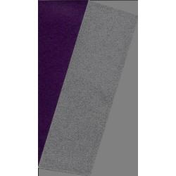 150 mm_  10 sh - Silver Metallic and Purple Washi Paper