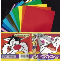 100 mm_  32 sh - Mixed Colors Origami Paper