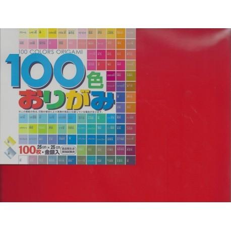 250 mm_ 100 sh - Mix Colors Origami Paper