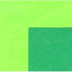 Origami Paper- Double Sided Forest Green and Lime Green-150  mm-25 sh