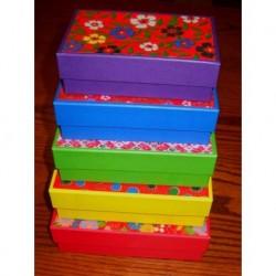 Five Stacking Rectangular Boxes