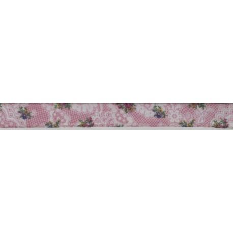 Flower Print Sheer Ribbon