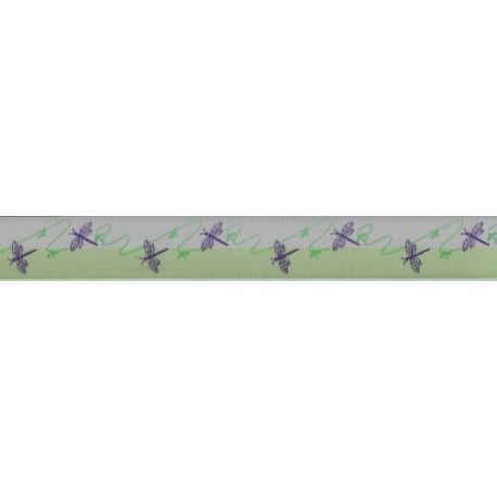Dragon Fly Print Ribbon