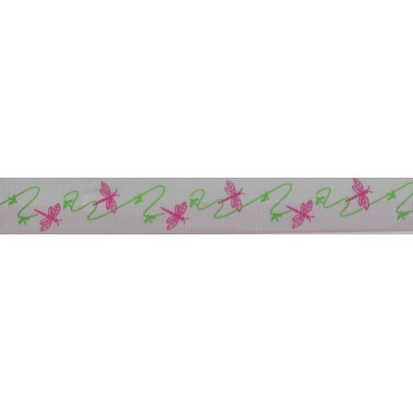 Dragon Fly Print Ribbon