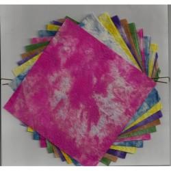 Handmade Washi Paper - Momizome Print - 140 mm - 12 sheets