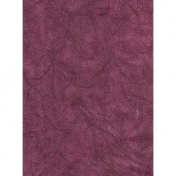 Mulberry Unryu Paper - Burgundy With Treads
