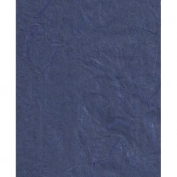 Mulberry Unryu Paper - Dark Blue With Threads