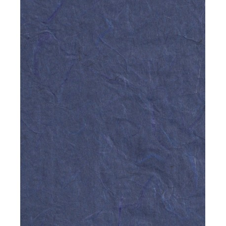 Mulberry Paper - Dark Blue With Threads