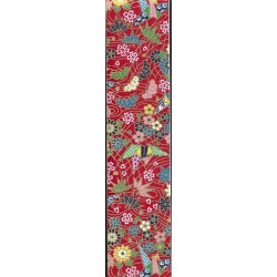 Red Chiyogami Print Tape - 01440