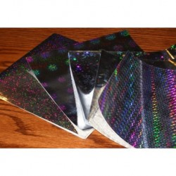 Origami Paper Five Prints of Holographic Foils - 150 mm - 18 sheets