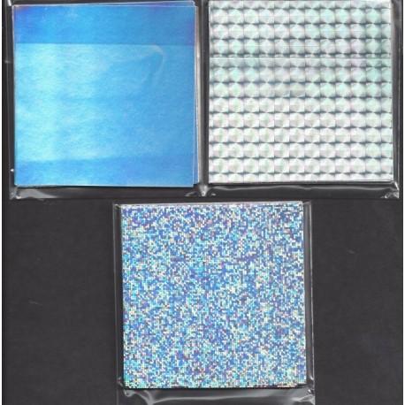 075 mm_   15 sh - Silver Holographic Foil Paper