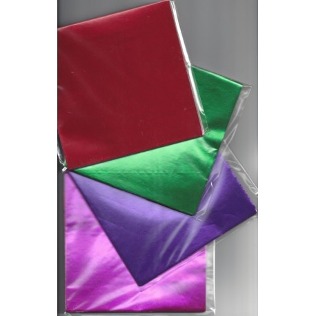 Origami Paper Four Colors Of Foil  -  150mm - 40 sheets