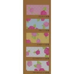 150 mm_ 100 sh - Five Chiyogami Floral Prints