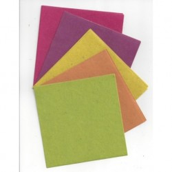 Origami Paper Handmade from Africa - Five Colors - 120 mm -  20 sheets