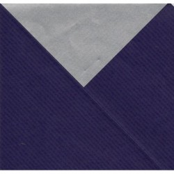 600 mm/  1 sh - Kraft Paper Royal Blue and Silver - JR-B996