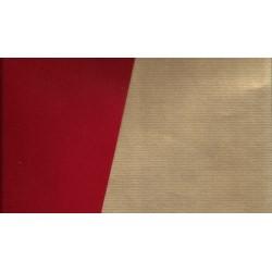 600mm_   1 sh -  Kraft Paper Red and Gold - JR-B993