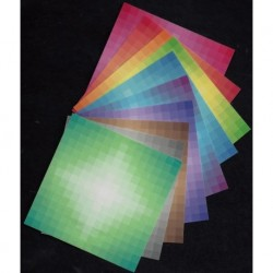 Origami Paper Diamond Harmony Pattern  - 075 mm - 200 sheets -  Disc