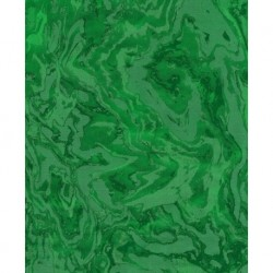 Origami Paper Green Swirl Foil Backed - 300 mm -  6 sheets