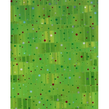 Origami Paper Shiny Green Foil With Polka Dot Design - 300 mm -  6 sh