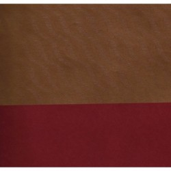 600mm/   1 sh -  Kraft Paper Gold Wave Reverse Side Red