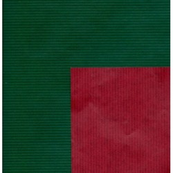 055 mm_   50 sh - Kraft Paper Double Sided Red and Green