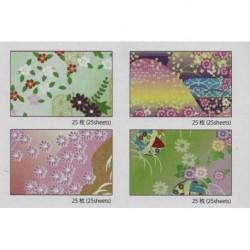 150 mm_ 100 sh - Mixed Prints Chiyogami Paper