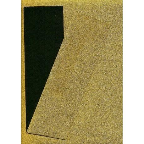 075 mm_   40 sh - Gold Metallic and Black Washi Paper