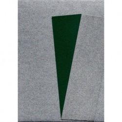 075 mm_  40 sh - Silver Metallic and Green Washi Paper