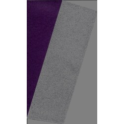 075 mm_   40 sh - Silver Metallic and Purple Washi Paper
