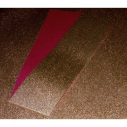 Origami Paper Copper Metallic and Burgundy Washi - 075 mm -  40 sheets