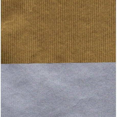 050 mm_   30 sh - Kraft Paper Double Sided Gold Silver