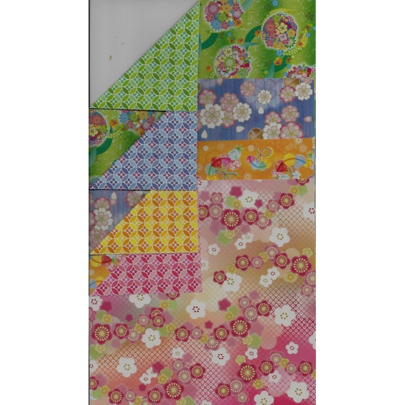 origami paper doublesided chiyogami print 150 mm 28