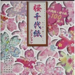 150 mm_ 100 sh - Sakura Chiyogami Collection