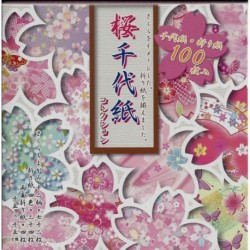 Origami Paper Sakura Cherry Blossom Collection - 150 mm - 100 sheets