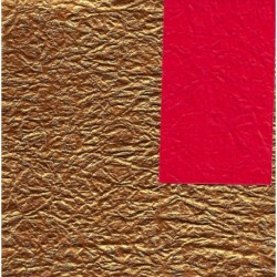 Origami Paper Double - Sided Red and Gold Momigami Washi- 075 mm-40 sh