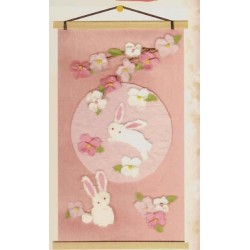 Washi Rabbit Tapestry/Picture